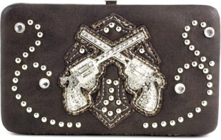 Accessories Plus Cross and Guns Flat Clutch