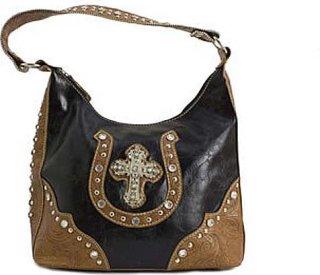 Accessories Plus Cross and Horeshoe Shoulder Bag