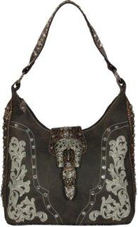Accessories Plus Embroidery and Gator Print Handbag