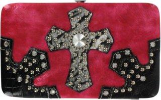 Accessories Plus Metallic Cross Clasp Wallet