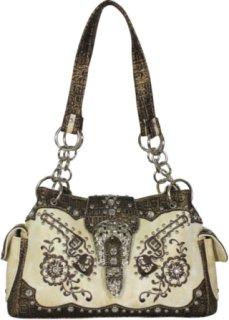 Accessories Plus Pistol and Gator Print Handbag