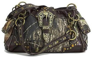 Accessories Plus Rectangle Camo and Buckle Purse