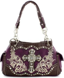 Accessories Plus Rectangle Cross and Boot Stitched Handbag
