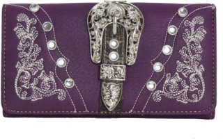 Accessories Plus Western Buckle Snap Close Wallet