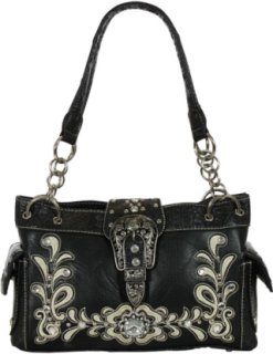 Accessories Plus Western Scroll and Buckle Handbag