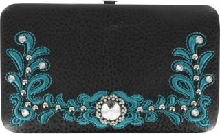 Accessories Plus Western Scroll and Concho Clasp Wallet