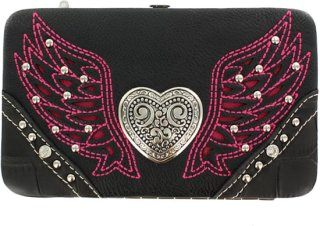 Accessories Plus Winged Heart Wallet