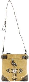 Accessories Plus Womne's Double Cross Messenger Bag