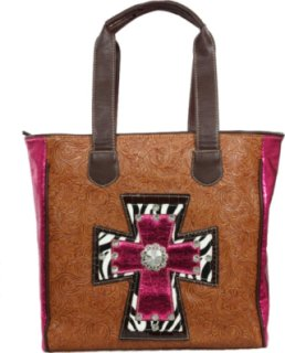 Accessories Plus Zebra Cross Tooled Leather Purse