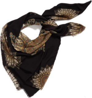 Accessory Street Digital Print Scarf Black One Size One Size