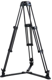 "Acebil 1 Stage 100mm Ball Base Aluminum Tripod with GS-3 Ground Spreader 88 lb Load Capacity 26.4-56.7"" Height Adjustment Range"