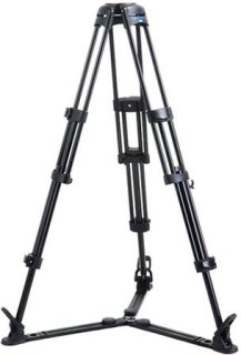 "Acebil 2 Stage 100mm Ball Base Aluminum Tripod with GS-3 Ground Spreader 88 lb Load Capacity 17.7-60.2"" Height Adjustment Range"