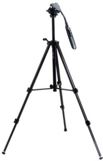 "Acebil i-405DX Tripod with RMC-P3PL Zoom Control Handle 23.2 to 60.2"" Max Adjustable Height 4.4 lb Load Capacity"