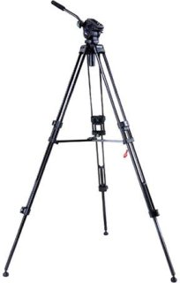 "Acebil i-605DX 2-Stage Compact Lightweight Aluminum Video Tripod with #605 65mm Ball Leveling Head 59"" Maximum Height Holds Up to 6.6lbs"