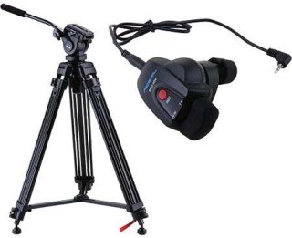 Acebil i-605DX Prosumer Tripod System with RMC-1DV Video Lens Zoom Controller 6.6 lbs Payload