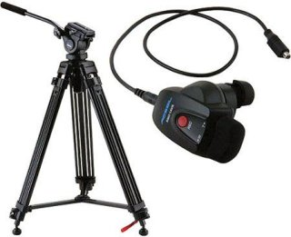 Acebil i-605DX Tripod Package with Sony Lens Zoom Controller 6.6 lbs Payload
