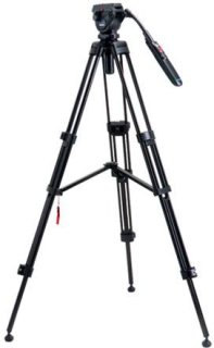 """Acebil i-605DX Tripod System with RMC-P3PL Zoom Control Handle Load Capacity Up to 6.6 lb (3 kg) 59"""" Max Height."""