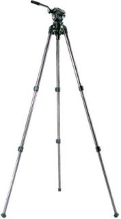 "Acebil i-605LAX 2-Stage Compact Lightweight Aluminum Tripod with #605 65mm Ball Leveling Head 63"" Maximum Height Holds Up to 6.6lbs"