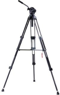 """Acebil i-705DX 2-Stage Compact Lightweight Aluminum Tripod with #705 75mm Ball Leveling Head 62.2"""" Maximum Height Holds Up to 9lbs"""