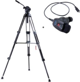 Acebil i-705DX 2-Stage Compact Lightweight Aluminum Tripod with #705 75mm Ball Leveling Head - Bundle - with - Acebil RMC-1AVR Video Lens Zoom Controller for Sony HD with AV/R Jack