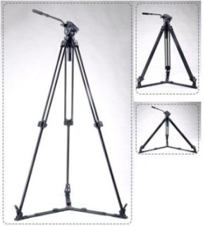 "Acebil J-805GX 1-Stage Aluminum Video Tripod with Ground Spreader and #805 75mm Ball Leveling Head 59"" Maximum Height Holds Up to 8.8lbs"