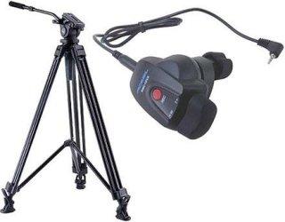 Acebil J-805GX Prosumer Tripod System with RMC-1DVX Video Lens Zoom Controller for Panasonic Mini DV / HDV Cameras 8.8 lbs Payload