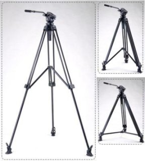 "Acebil J-805MX 1-Stage Tripod with 2-Position Middle Spreader and #805 75mm Ball Leveling Head 59"" Maximum Height Holds Up to 8.8lbs"