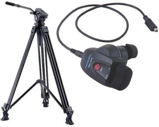 Acebil J-805MX Prosumer Tripod System with RMC-1AVR Video Lens Zoom Controller for Sony HD Cameras 8.8 lbs Payload
