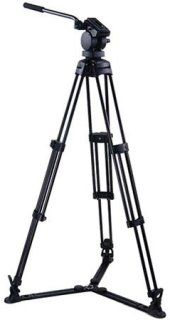 """Acebil P-20GX Professional Tripod System with QR Video Pan Head T750 Aluminum Tripod GS-3 Ground Spreader Supports 13.2 lbs. Max Height 63"""""""