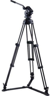 "Acebil P-50GX Professional Tripod System with H50 Fluid Head T750 Aluminum Tripod GS-3 Ground Spreader S-50 Carry Case Max Height 63"" Supports 22 lbs."