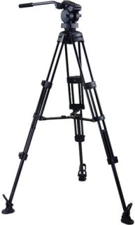 "Acebil P-52MX Professional Tripod System with H50 Fluid Head T752 Aluminum Tripod MS-3 Mid Level Spreader RF-3 Rubber Foot S-52 Carry Case Max Height 65"" Supports 22 lbs."