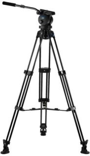 Acebil P-60MX Tripod Kit Includes H60 100mm Ball Head T1000 Tripod Stand MS-3 Middle Spreader RF-3 Rubber Foot and SC-110 Carrying Case