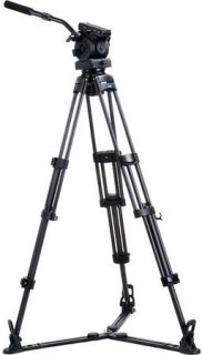 """Acebil Tripod Kit EH-80 100mm Ball Head T1002C Tripod GS-3 Ground Spreader and S-52 Case Supports 17-40lbs Max Height 68"""""""