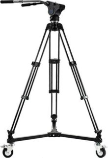 Acebil Tripod Kit Includes HM40 Video Head T750 Tripod Dolly D-3 and S-50 Carrying Case Load Capacity 33lbs