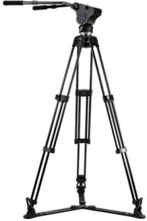 Acebil Tripod Kit Includes HM40 Video Head T750 Tripod GS-3 Ground Spreader and S-50 Carrying Case Load Capacity 33lbs