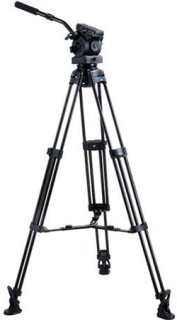 Acebil Tripod Kit with EH-80 100mm Ball Head T1000 Tripod MS-5 Middle Spreader RF-3 Rubber Feet and S-50 Carrying Case Supports 17-40lbs Max Height 64""