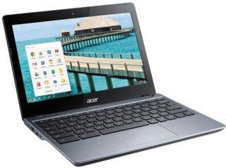 "Acer C720-2420 11.6"" Notebook Computer Iron Intel Celeron 2955U 1.4GHz 2GB RAM 32GB SSD Windows 8"
