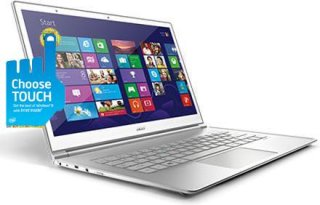 "Acer S7-391-9427 13.3"" Touch Screen Ultrabook Computer Intel Core i7-3537U 2GHz 4GB DDR3 SDRAM 256GB SSD Windows 8 64-Bit"