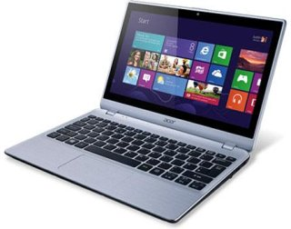 """Acer V5-122P-0482 11.6"""" TouchScreen Notebook Computer Silver AMD A4-1250 1.0GHz 4GB RAM 500GB HDD Windows 8"""