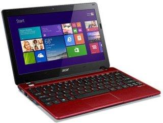 "Acer V5-123-3472 11.6"" Notebook Computer Red AMD E1-2100B 1.0GHz 4GB RAM 500GB HDD Windows 8"