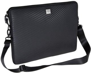 "Acme Made AM00824CEU Smart Laptop Sleeve Fits 10"" Netbook Computer Water-resistant Ballistic Nylon Closed-cell Foam Padding - Matt Black Chevron"