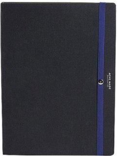 Acme Made Hardback Folio with Button-Down System for eReader - Black / Blue