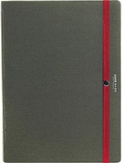 Acme Made Hardback Folio with Button-Down System for eReader - Olive / Red
