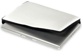 """Acme Made Slick 10"""" Laptop Sleeve StretchShell Neoprene Secure Handle on Spine Glossy White"""