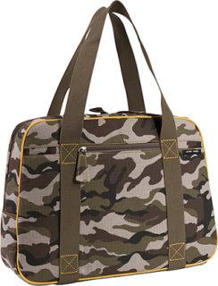Acme Made Trixy Laptop Bag - Camouflage w/Gold Trim