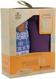 Acorn Versafit Holiday Socks 2-Pack