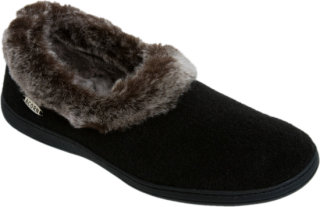 Acorn Chinchilla Collar Slipper