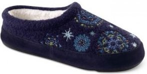 Acorn Snowflower Mule Slipper