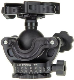 Acratech GPs Ballhead with Gimbal Feature Panoramic Head with all Rubber Knobs Quick Release / Detent Pin and Level Supports 25 lbs.