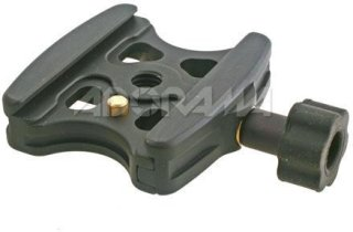 Acratech Quick Release Clamp with Spring-loaded Detent Pin Rubber Knob Double Speed Thread